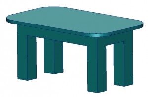 Supplied table design domain (material envelope)