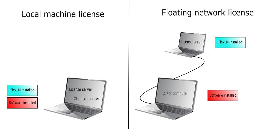 local vs server license