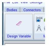 Design variables createe